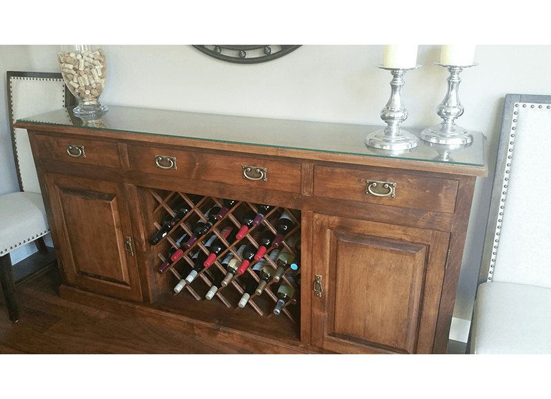 California West Buffet & Wine Storage