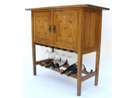 Mission Wine & Spirits Cabinet